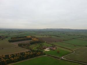 in flight view