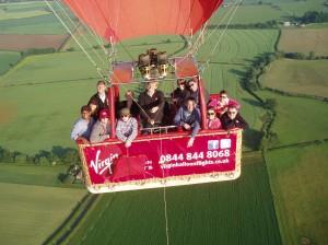 balloon in flight photo